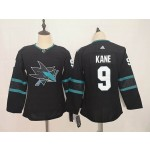 Youth San Jose Sharks #9 Evander Kane Black Adidas Jersey