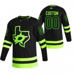 Dallas Stars Custom Black Men's Adidas 2020-21 Alternate Authentic Player NHL Jersey (Name and number remark in comment column)