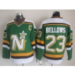 Men's Minnesota North Stars #23 Brian Bellows Green Throwback CCM Jersey