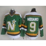Men's Minnesota North Stars #9 Mike Modano Green Throwback CCM Jersey