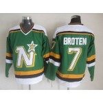 Men's Minnesota North Stars #7 Neal Broten Green Throwback CCM Jersey