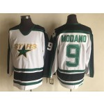 Men's Minnesota North Stars #9 Mike Modano 1995 White CCM Throwback Jersey