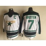 Men's Minnesota North Stars #7 Neal Broten 1995 White CCM Throwback Jersey