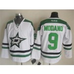 Men's Dallas Stars #9 Mike Modano White Throwback CCM Jersey