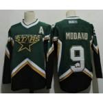 Men's Dallas Stars #9 Mike Modano 2005 Green CCM Throwback Stitched Vintage Hockey Jersey