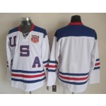 NHL 2010 Team USA Olympic White Throwback jersey
