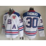 NHL 2010 Team USA Olympic #30 Tim Thomas White Throwback jersey
