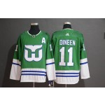 NHL Hartford Whalers #11 Kevin Dineen Green Adidas Jersey