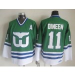 Men's Hartford Whalers #11 Kevin Dineen Green Throwback CCM Jersey