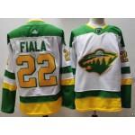 Minnesota Wild #22 Kevin Fiala White Men's Adidas 2020-21 Reverse Retro Alternate NHL Jersey