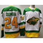 Minnesota Wild #24 Matt Dumba White Men's Adidas 2020-21 Reverse Retro Alternate NHL Jersey