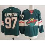 Men's Minnesota Wild #97 Kirill Kaprizov Green  Adidas NHL Jersey