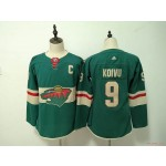 Women Minnesota Wild #9 Mikko Koivu Green Adidas Jersey