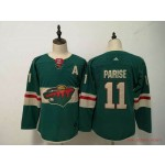 Women Minnesota Wild #11 Zach Parise Green Adidas Jersey
