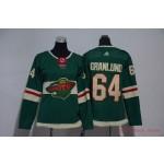 Women Minnesota Wild #64 Mikael Granlund Green Adidas Jersey