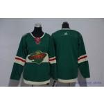 Youth Minnesota Wild Blank Green Adidas Jersey