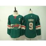 Youth Minnesota Wild #9 Mikko Koivu Green Adidas Jersey