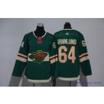 Youth Minnesota Wild #64 Mikael Granlund Green Adidas Jersey