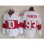 Men's Detroit Red Wings #93 Johan Franzen 2008-09 White CCM Throwback Jersey