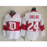 Men's Detroit Red Wings #24 Chris Chelios 2008-09 White CCM Throwback Jersey