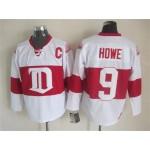 Men's Detroit Red Wings #9 Gordie Howe 2008-09 White CCM Throwback Jersey