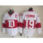 Men's Detroit Red Wings #19 Steve Yzerman 2008-09 White CCM Throwback Jersey
