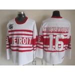 Men's Detroit Red Wings #16 Vladimir Konstantinov White 75TH Throwback CCM Jersey