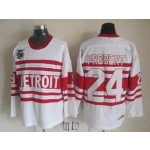 Men's Detroit Red Wings #24 Bob Probert White 75TH Throwback CCM Jersey