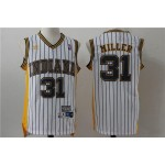 NBA Throwback Indiana Pacers Reggie Miller #31 white jersey