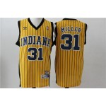NBA Throwback Indiana Pacers Reggie Miller #31 Yellow jersey
