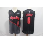 Blazers #0 Damian Lillard Black 2018 19 Earned Edition Nike Swingman Jersey