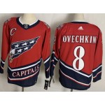 Men's Washington Capitals #8 Alexander Ovechkin 2021 Reverse Retro Jersey