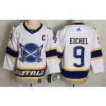 Buffalo Sabres #9 Jack Eichel White Men's Adidas 2020-21 Reverse Retro Alternate NHL Jersey