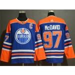 Men's Edmonton Oilers #97 Connor McDavid Blue Adidas Jersey