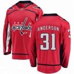 NHL Washington Capitals #31 Craig Anderson Red Adidas Jersey