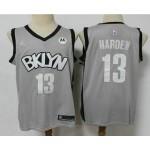 Men's Brooklyn Nets #13 James Harden Light Grey 2020-21 Jordan Swingman Stitched NBA Jersey