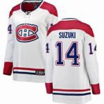 Men's Montreal Canadiens #14 Nick Suzuki White Stitched NHL Jersey