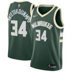 Nike Bucks #34 Giannis Antetokounmpo NBA Swingman Icon Edition Jersey