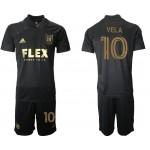 21-22 Los Angeles FC #10 Vela Black Home Soccer Jersey