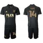 21-22 Los Angeles FC #14 Kaye Black Home Soccer Jersey