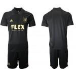 21-22 Los Angeles FC Blank Black Home Soccer Jersey