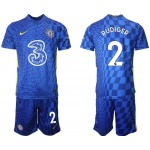 21-22 Chelsea #2 Antonio Rudiger Blue Home Soccer Jersey