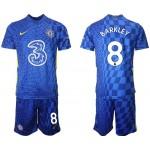 21-22 Chelsea #8 Ross Barkley Blue Home Soccer Jersey