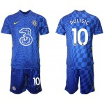21-22 Chelsea #10 Christian Pulisic Blue Home Soccer Jersey