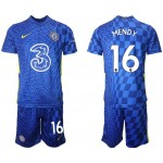 21-22 Chelsea #16 ?douard Mendy Blue Home Soccer Jersey