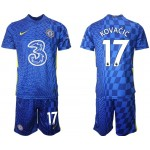 21-22 Chelsea #17 Mateo Kovacic Blue Home Soccer Jersey