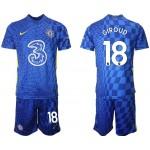 21-22 Chelsea #18 Olivier Giroud Blue Home Soccer Jersey