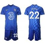 21-22 Chelsea #22 Hakim Ziyech Blue Home Soccer Jersey