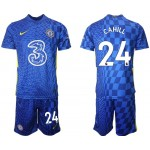 21-22 Chelsea #24 Gary Cahill Blue Home Soccer Jersey