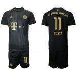 21-22 FC Bayern Munchen #11  Douglas Costa Black Away Soccer Jersey